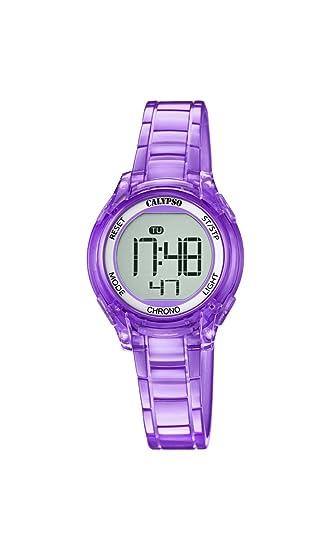 Calypso Reloj Digital para Mujer de Cuarzo con Correa en Plástico K5737/4: Amazon.es: Relojes