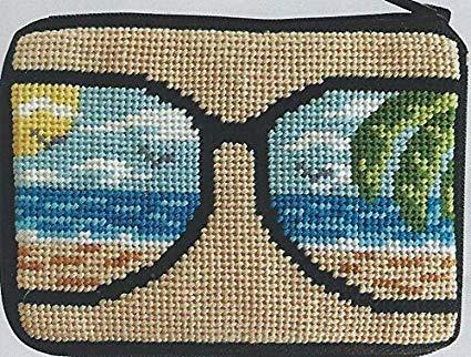(Life's a Beach Needlepoint Coin Purse Kit - Stitch & Zip)
