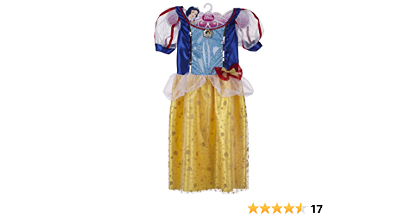 SNOW GIRL FANCY DRESS SNOW WHITE PRINCESS FAIRY TALE COSTUME AGE 2-12
