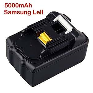 Jintu 2 piezas de Batería para cámara fotográfica de Ion de litio para sierra de BL1830 taladro de 18 V Set de pilas de ión de litio LXT de botón de litio tipo libro con función de BL1850 5,0 con texto en Samsung pila de botón para