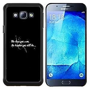 - TEXT INSPIRING WORRY WHITE BLACK HAPPINESS - Caja del tel¨¦fono delgado Guardia Armor- For Samsung Galaxy A8 A8000 Devil Case