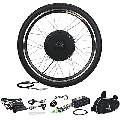 "Voilamart 26"" 36V 500W Front Wheel Electric Bicycle Conversion Motor Kit E-bike Cycling Hub"