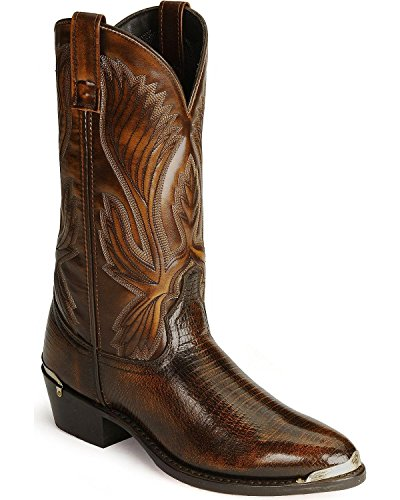 Laredo Men's New York Lizard Print Cowboy Boot Medium Toe Cognac 11 EE US