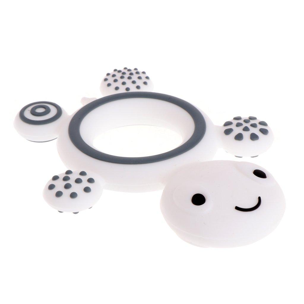 A0127 de silicona W grado alimentario Chupete de seguridad para beb/és con forma de tortuga