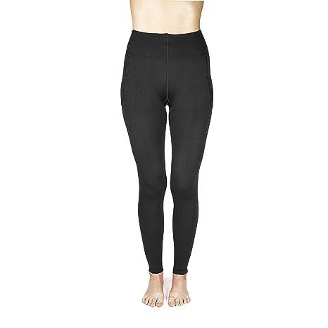 cff7ffb568 Amazon.com: Rejuva 15-20 mmHg Graduated Compression Leggings, Womens  Footless Support Tights: Clothing