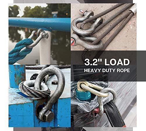 DOJA Industrial | Grillete de Acero ALTA Resistencia | 2 Toneladas | perfecto para remolcar y levantar o elevacion de peso | todoterreno 4x4 mosqueton ...