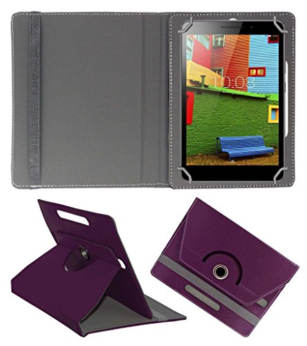 Acm Rotating 360 Leather Flip Case Compatible with Lenovo Phab Plus Cover Stand Purple