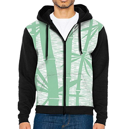 Beautiful Bamboo Mens Indoor Full Zip Hoodeds Cool Sweatshirts
