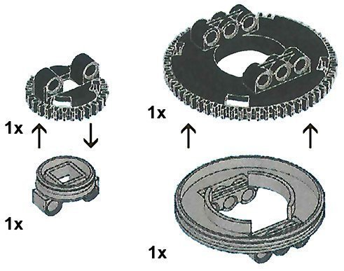 LEGO Technic Turntable Platform Gears Set