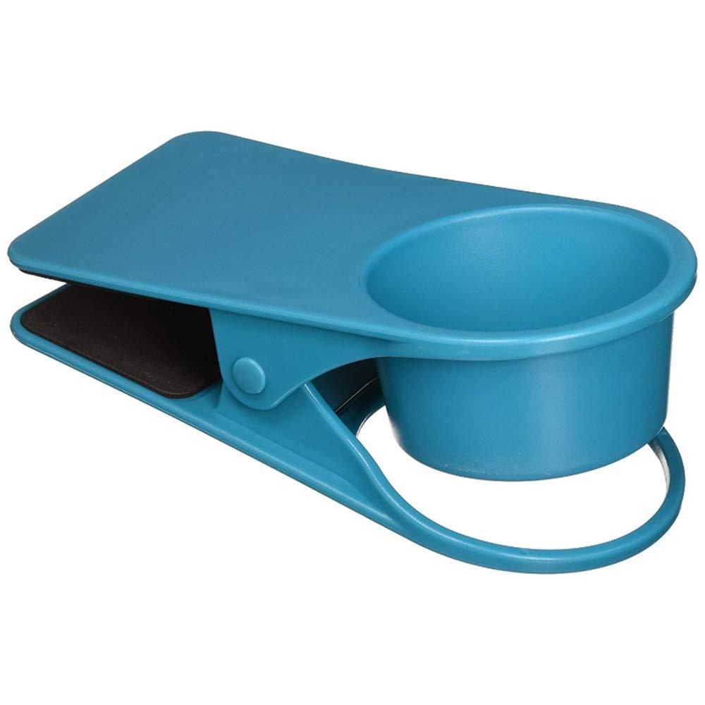Ogquaton 1 UNIDS de Gran Tama/ño Portavasos Clip de Mesa Escritorio Bandeja de Clip de Bebida Lateral Miscel/áneas Clip de Almacenamiento para el Hogar Oficina Uso de la Habitaci/ón Azul