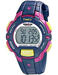 Timex Womens T5K813 Ironman Rugged 30 Mid-Size Blue/Pink Color Block Resin Strap Watch