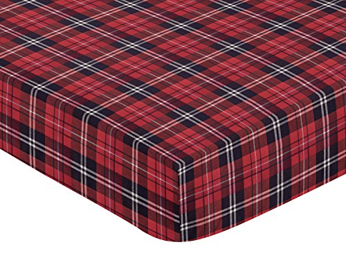 Sweet Jojo Designs Red and Black Woodland Plaid Flannel Baby