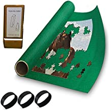 """Puzzle Buddy - Jigsaw Puzzle Roll Up Puzzle Mat - Felt Puzzle Storage Mat Comes with a Puzzle Box Stand - 100% Made in the USA (54"""" x 35"""") - Fits up to 3000 pieces"""