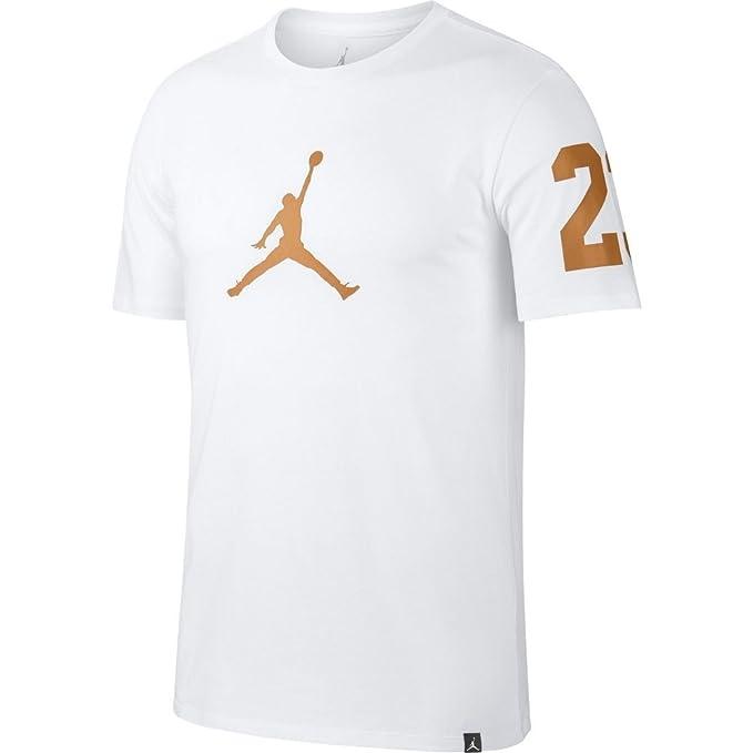 camiseta jordan dorada