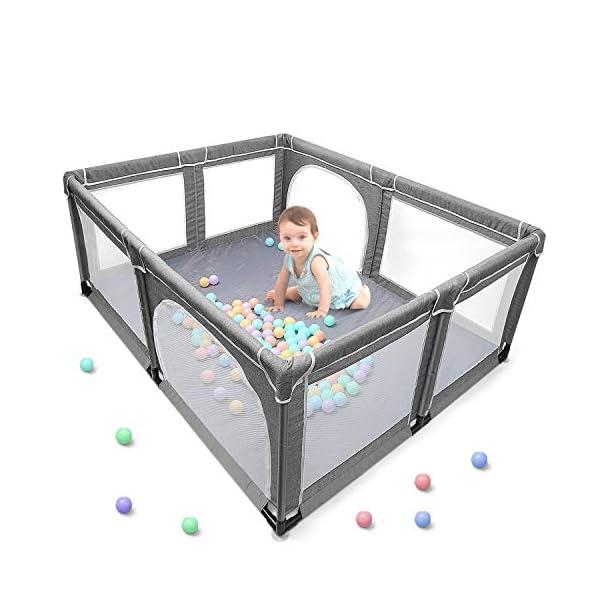 Box per bambini, box XL, centro di attività per bambini, interno ed esterno, con base antiscivolo, griglia di protezione… 1 spesavip