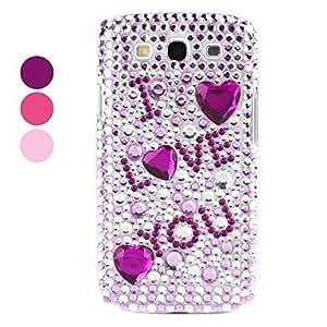 YXF Rhinestones Hard Case for Samsung Galaxy S3 I9300 (Assorted Colors) , Purple