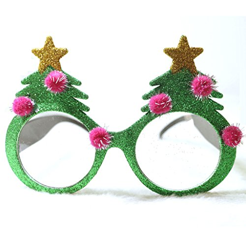 Novelty Glittered Christmas Decoration Fanci-Frames Party Accessory Xmas tree - Eyeglasses Christmas Ornament