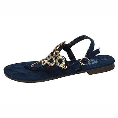 XTI 48055, Damen Sandalen, Blau - Blau - Größe: 39 EU