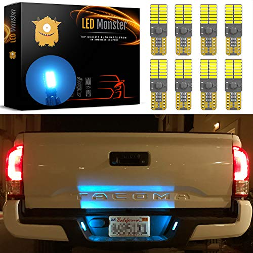 Eldorado Cadillac Convertible 1984 - LED Monster Extremely Bright 3030 Chipset LED Bulbs for Car Interior Dome Map Door Courtesy License Plate Lights Compact Wedge T10 168 194 2825 Xenon Ice Blue Pack of 8