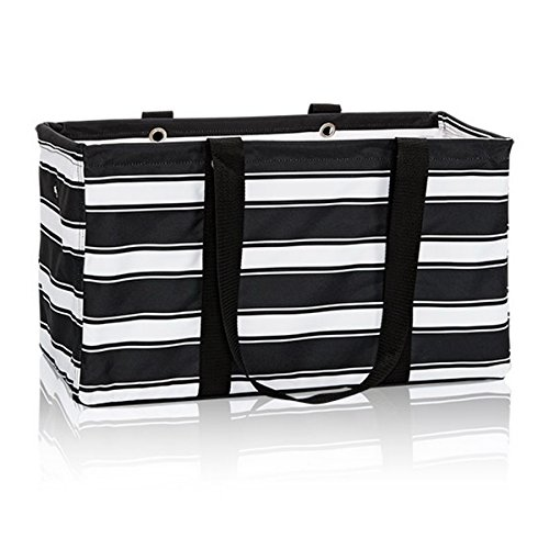 [Thirty One Large Utility Tote in Ribbon Stripe - No Monogram - 3121] (Ribbon Tote)