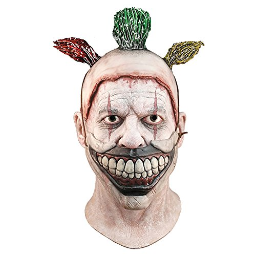 [Twisty The Clown American Horror Story Deluxe Latex Mask] (Twisty The Clown Costume Mask)
