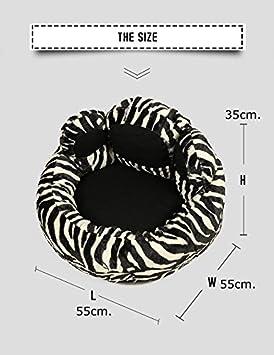 Caseta para perro y gato de interior suave tela Zebra Paw (52 x 54 x 34) alta calidad: Amazon.es: Jardín