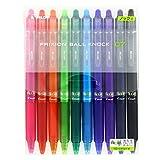 Pilot FriXion Ball Knock Retractable Gel Ink Pen, 0.7 mm, 10 Color Set (LFBK-230F-10C)