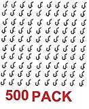 Peg Board Hook Kit Garage Tool Storage Craft Hooks Pegboard J Hook Style-BLACK- Plastic (500)