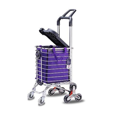 LPYMX Carrito de Compras pequeño Carro Subir escaleras Plegable Carro portátil - Carrito Plegable