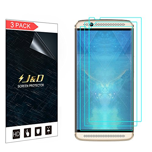 J&D Compatible for 3-Pack Axon 7 Mini Screen Protector, [Not Full Coverage] Premium HD Clear Film Shield Screen Protector for ZTE Axon 7 Mini Crystal Clear Screen Protector - [Not for ZTE Axon 7]