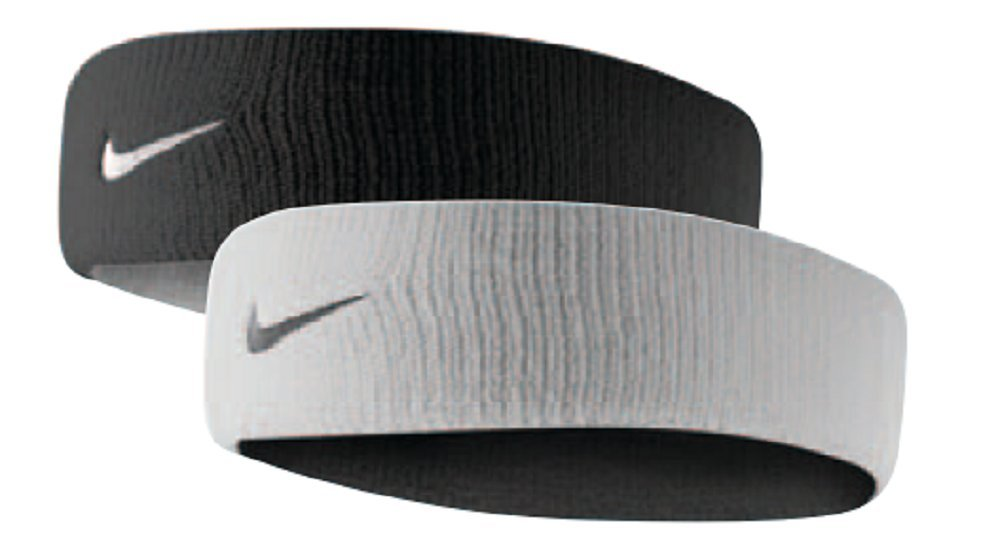 Nike Dri-Fit Home & Away Headband (One Size Fits Most, White/Black) by Nike
