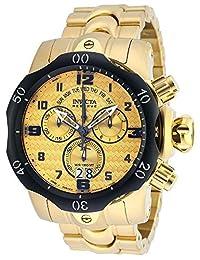 New Mens Invicta 90137 Reserve Venom Swiss Chronograph Gold Tone Bracelet Watch