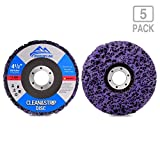 "DUROPEAK 5Pack- 4-1/2"" x 7/8"" Strip&Clean Discs For Angle Grinders-Removes Rust,Strips Paint,Cleans Welds"