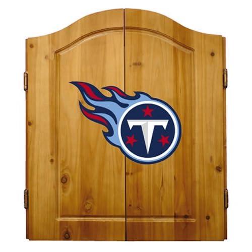 Image of Dartboards NFL Dart Cabinet Set w/ Steel Tip Bristle Dartboard and Darts