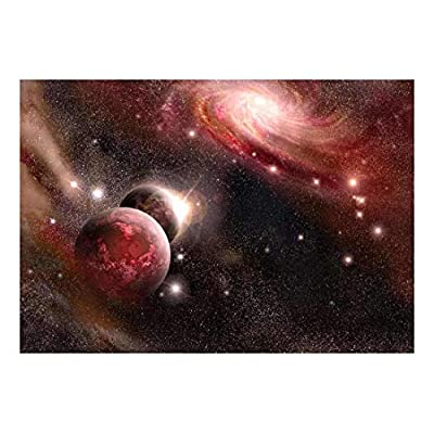Created By a Professional Artist, Charming Artistry, Purple and Pink Starry Space Wall Mural