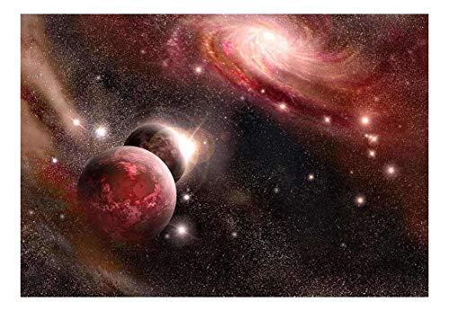 wall26 Purple and Pink Starry Space - Wall Mural, Removable