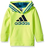 Adidas Solar Yellow Best Deals - adidas Little Boys' Athletic Pullover Hoodie, Solar Yellow, 5