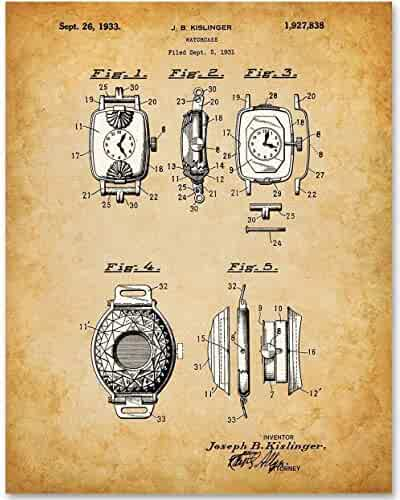 Watch Case - 11x14 Unframed Patent Print - Great Gift for Watch Collectors