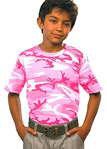 Bodek And Rhodes 55066074 2206 Code Five Youth Camouflage T-Shirt Pink Woodland - Medium - Woodland Camouflage Tee T-shirt Top