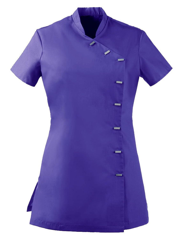 Beauty Uniform Nail Spa Oriental Tunic Purple