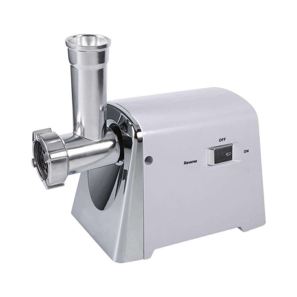 Zoternen Picadora de Carne El/éctrica para el Hogar 1600W M/áquina para Picar Carne Embutidora de Acero Inoxidable con 3 Cuchillas de Plata
