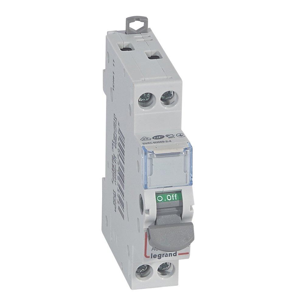 Legrand 406432Interrupteur seccionador DX³ -is–2P–400V ~–20A, 1module 1module