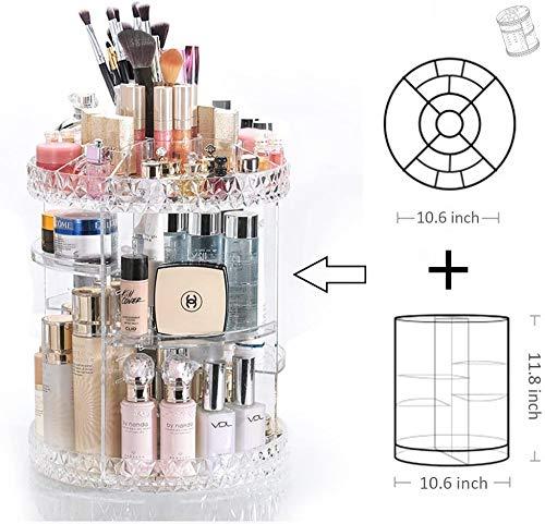 DreamGenius Makeup Organizer, 360 Degree Rotating Cosmetic Storage Organizer, 7-Layer Adjustable Makeup Display Case…