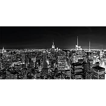 New york city nyc black and white manhattan skyline decorative photography print unframed