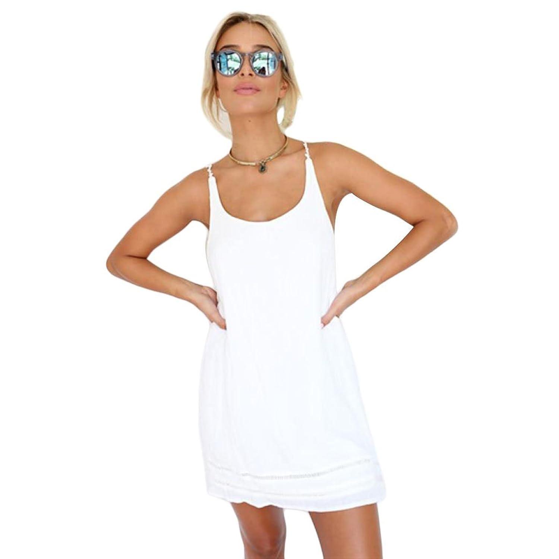 Ouneed® Damen Kleider , Sommer beiläufige Sleeveless Backless Cocktail Kurzschluss Minikleid