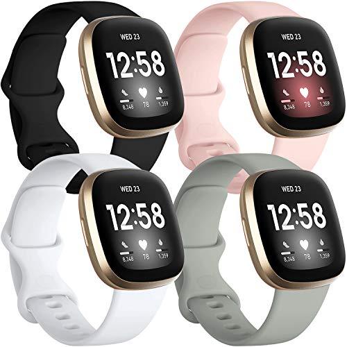 4 Mallas Para Fitbit Sense Y Fitbit Versa 3