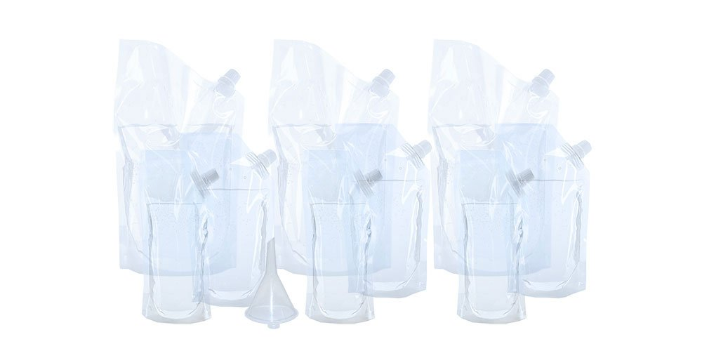 Undetectable Plastic Flask Full Cruise Kit, 9 Pouches in total 3) 8 oz, 3) 16 oz, and 3) 32 oz