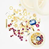 SILPECWEE 6 Boxes 3D Nail Art Rhinestones And