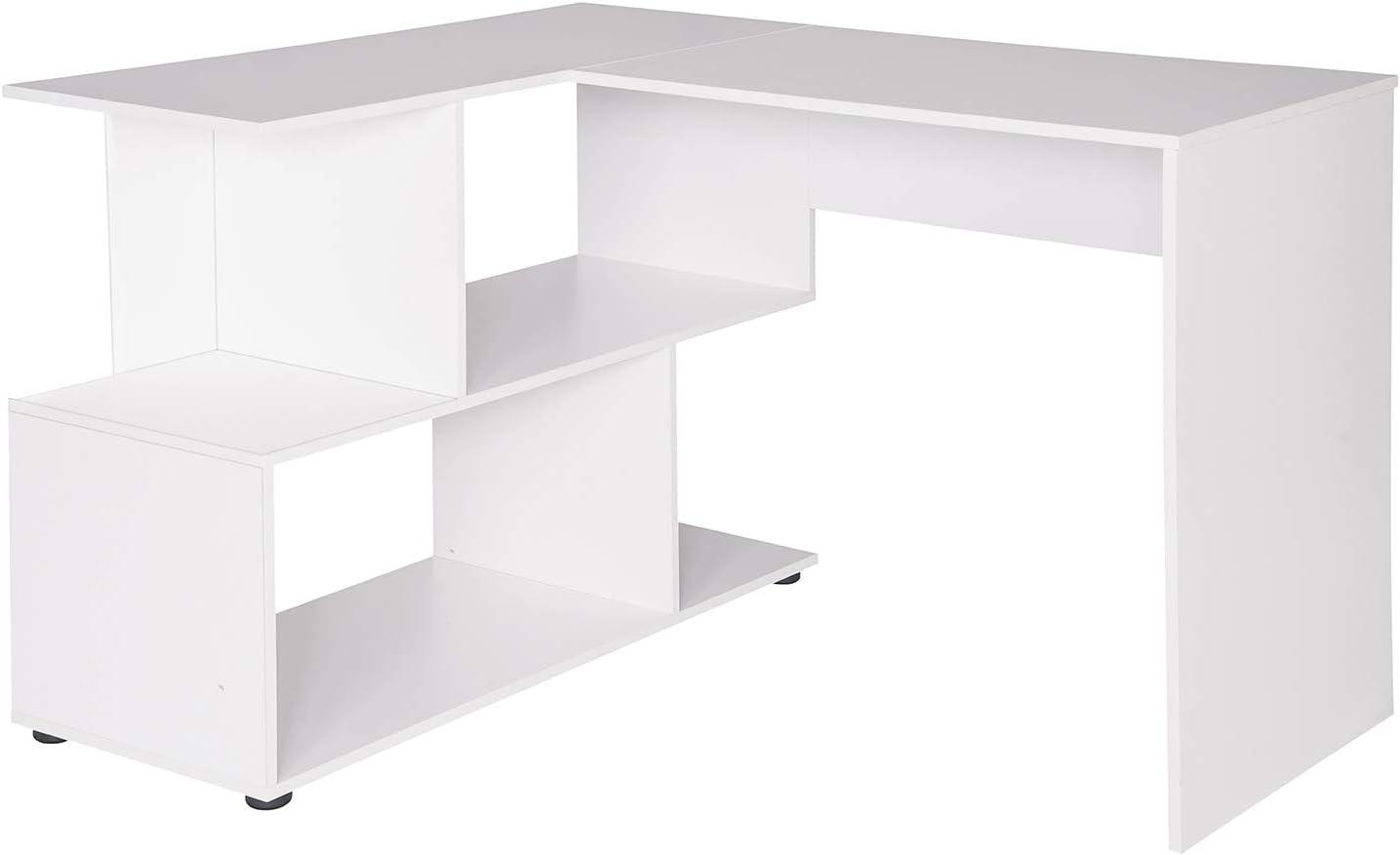 120x100x77cm,Blanc WOLTU TS64ws Table de Bureau en MDF,Table de Travail PC Table dordinateur avec /étag/ères