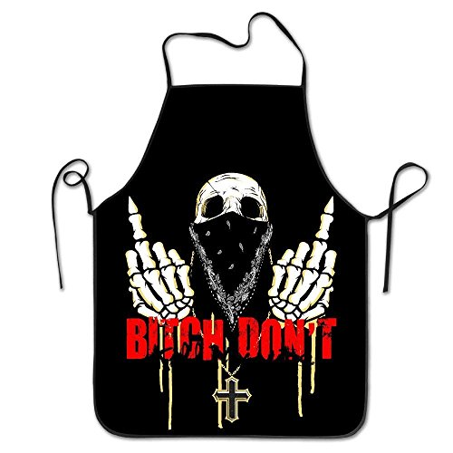 dvdaawk Women Bib Kitchen Apron Polyester Art Printing Bling Bling 2017 Fashion]()